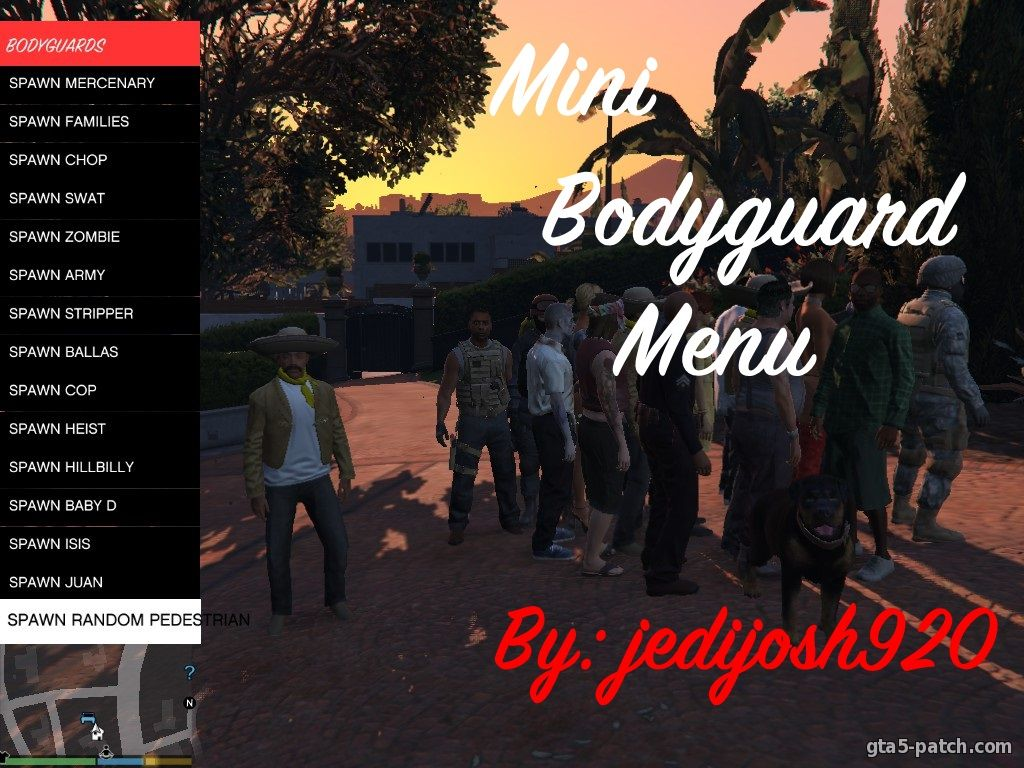 Мод Mini Bodyguard Menu v1.0