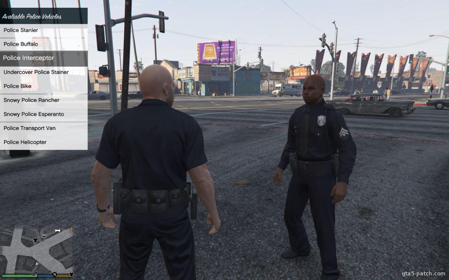 скачать мод для гта 5 полицейский
