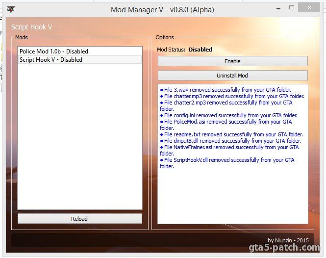 Mod Manager 0.8.0